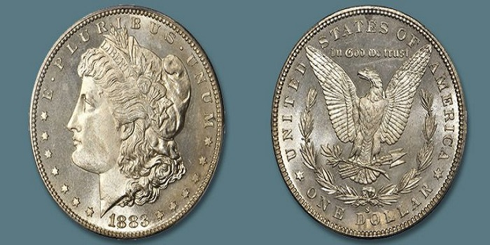 finest example of a 1883-s Morgan dollar